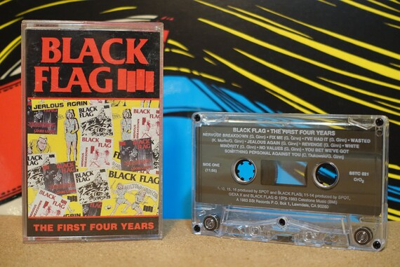 The First Four Years by Black Flag Vintage Cassette Tape