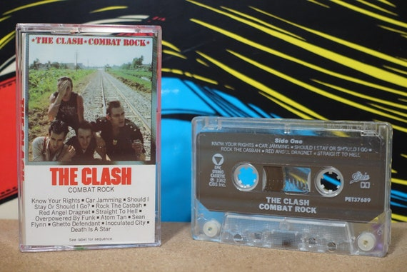Combat Rock by The Clash Vintage Cassette Tape