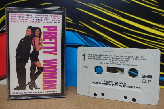 Pretty Woman Cassette Tape, Movie Soundtrack, Julia Roberts, David Bowie, Red Hot Chili Peppers, Vintage 1990, Music Lover Gift, EMI Records
