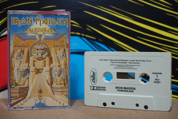 Powerslave by Iron Maiden Vintage Cassette Tape