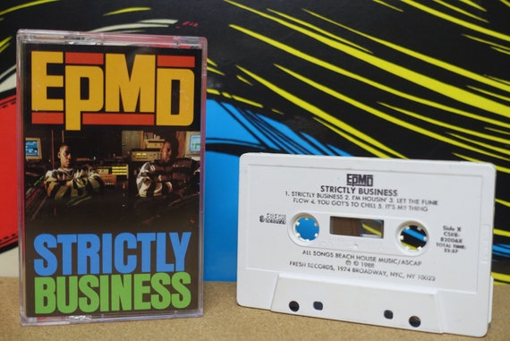 EPMD - Strictly Business Cassette Tape - 1988 Fresh Records Vintage Analog Music