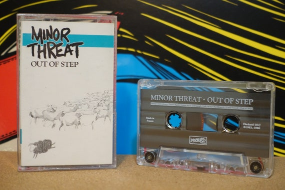 Out Of Step by Minor Threat Vintage Cassette Tape