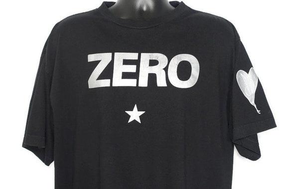 1995 Smashing Pumpkins Vintage T Shirt - ZERO Mellon Collie - SP Heart Logo World is A Vampire Era - Original 90s Concert Band T-Shirt
