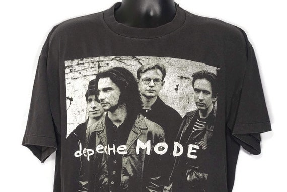 1993 Depeche Mode Devotional World Tour - Songs of Faith and Devotion Era  - Goth New Wave Band - Double Sided Vintage Concert T-Shirt