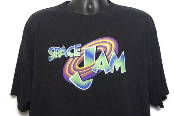1996 Space Jam Vintage T Shirt - Tune Squad Bugs Bunny Michael Jordan Warner Bros - Original 90s Cult Basketball Alien Movie Promo T-Shirt