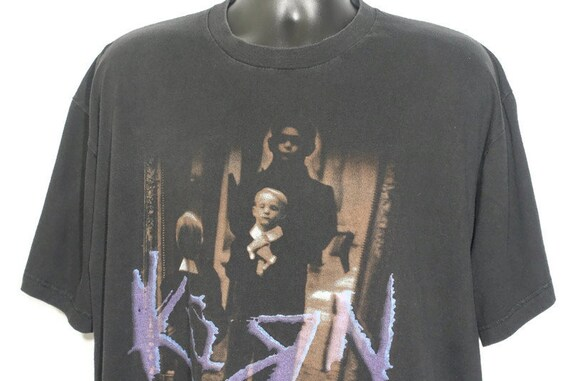 1996 Korn Vintage T Shirt - Life is Peachy Giant Branded Original 90s Concert Band T-Shirt