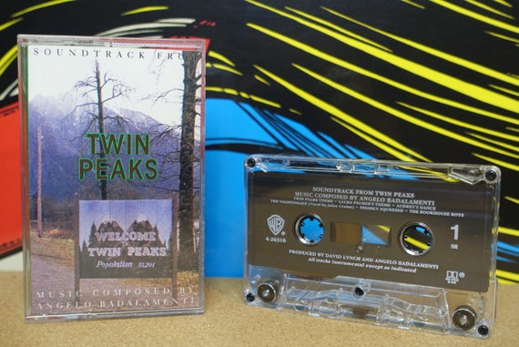 Twin Peaks Cassette Tape Soundtrack by Angelo Badalamenti David Lynch - 1990 Warner Bros. Records Vintage Analog Music, Music Lover Gift