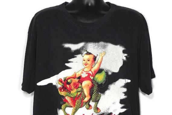 1994 RARE Stone Temple Pilots - PURPLE Album Era '94 Tour Scott Weiland Chinese Album Artwork - Double Sided Vintage Concert T-Shirt