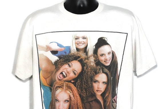 1997 Spice Girls Vintage T Shirt - Girl Power Tour - Scary, Baby, Ginger, Sporty, Posh Spice Original 90s Concert Band T-Shirt