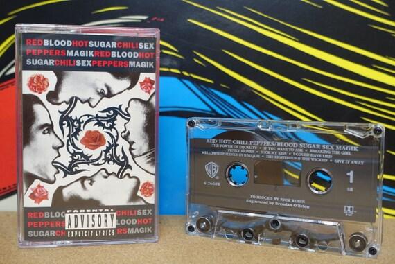 Red Hot Chili Peppers - Cassette Tape Blood Sugar Sex Magik - 1991 Warner Bros. Records  - Vintage Analog Music