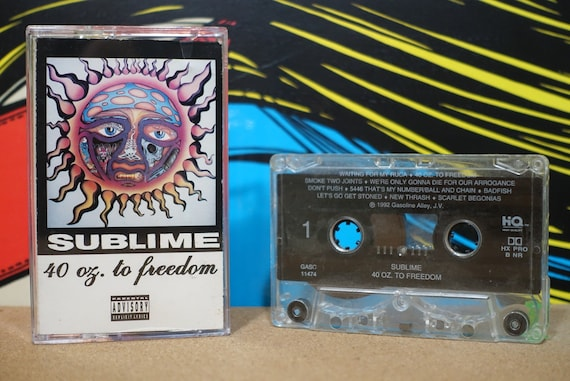 Sublime - 40oz. To Freedom Cassette Tape  - 1992 Gasoline Alley Records - Vintage Analog Music