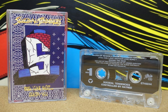 Suicidal Tendencies Cassette Tape - Controlled By Hatred / Feel Like Shit...Deja-Vu 1994 Epic Records Vintage Analog Hardcore Punk Music