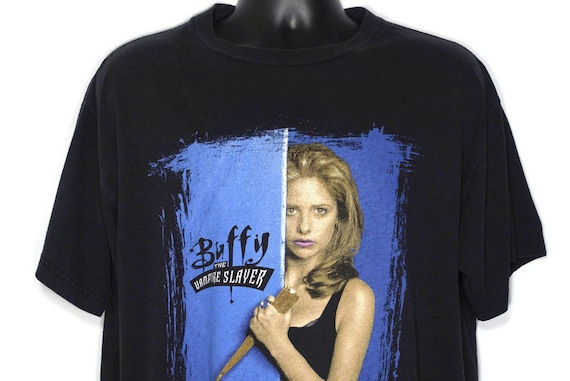 1998 Buffy the Vampire Slayer Vintage T Shirt - In Every Generation There is Only One Slayer - 2-Sided Original 90s Cult TV Show T-Shirt