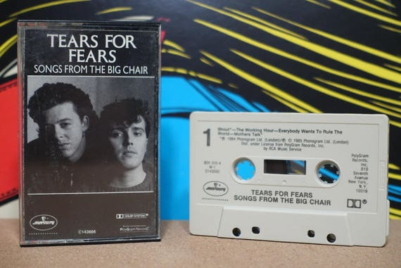Tears For Fears - Songs From The Big Chair Cassette Tape - 1985 Mercury Records - Vintage Analog Music
