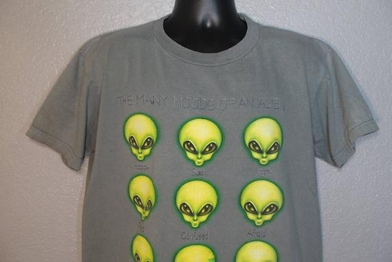 1996 RARE Alien Workshop - The Many Moods of an Alien - Skater Grunge Punk Aliens Work Vintage T-Shirt