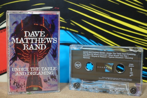 Under The Table And Dreaming by Dave Matthews Band Vintage Cassette Tape