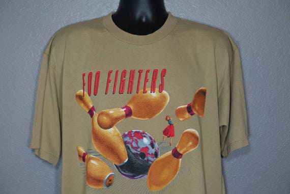 1996 Foo Fighters - Bowling Pin '96 Tour Double-Sided Vintage Concert T-Shirt