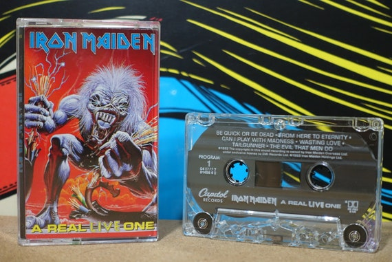A Real Live One by Iron Maiden Vintage Cassette Tape