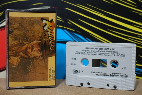 Raiders Of The Lost Ark (Original Motion Picture Soundtrack) by John Williams Vintage Cassette Tape