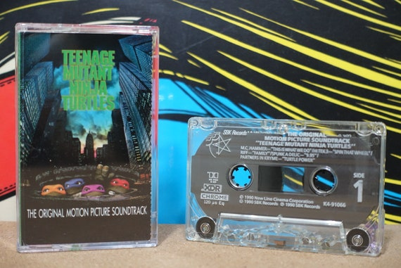 Teenage Mutant Ninja Turtles (Music From The Motion Picture) by Various Artists Vintage Cassette Tape