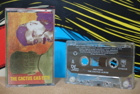 The Cactus Cas/Ette (The Cactus Album) by 3rd Bass Vintage Cassette Tape