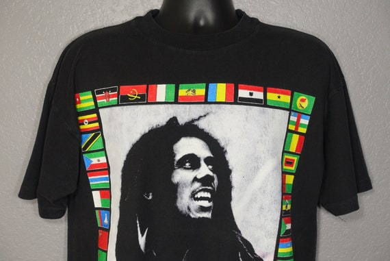 1996 Bob Marley Africa Unite Fifty Six Hope Road Music Sun Island Vintage T-Shirt