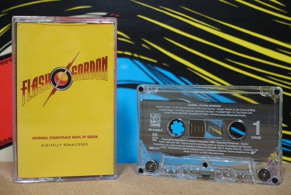 Flash Gordon (Original Soundtrack Music) by Queen Vintage Cassette Tape