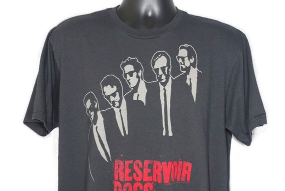 1992 Reservoir Dogs - Quentin Tarantino - Dog Eat Dog Productions - American Heist Cult Crime Drama Film Movie Promo Vintage T-Shirt