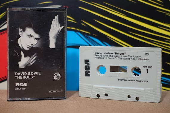 Heroes by David Bowie Vintage Cassette Tape
