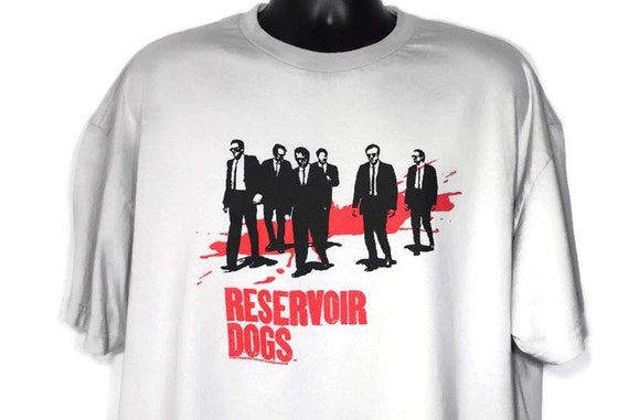 1991 Reservoir Dogs - Quentin Tarantino - Dog Eat Dog Productions - 2XL American Heist Cult Crime Drama Film Movie Promo Vintage T-Shirt