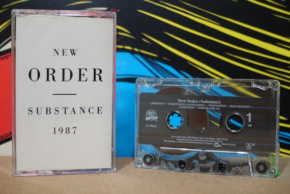 New Order - Substance Cassette Tape - 1987 Qwest Records - Vintage Analog Music