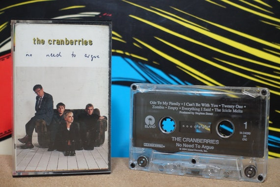 No Need To Argue by The Cranberries Vintage Cassette Tape