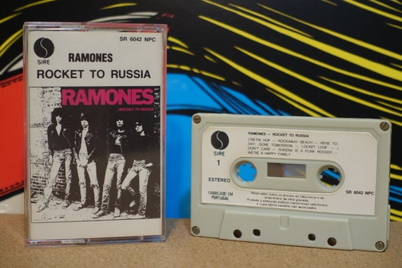 Rocket To Russia by Ramones Vintage Cassette Tape