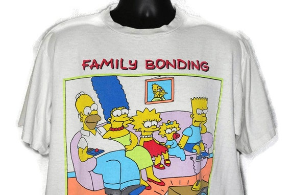 1989 'Family Bonding' - The Simpsons Matt Groening Vintage T-Shirt