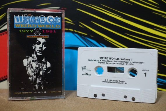 Weird World (Volume One 1977-1981) by The Weirdos Vintage Cassette Tape