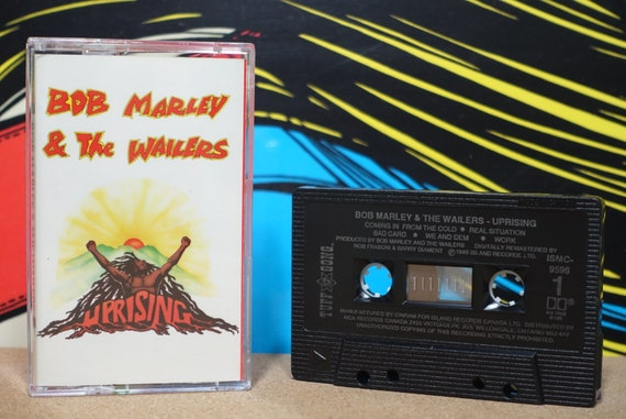 Uprising by Bob Marley & The Wailers Vintage Cassette Tape