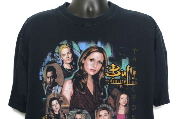2000s Buffy the Vampire Slayer Vintage Horror T Shirt - Spike Buffy Xander Willow - 90s TV Show Fruit of the Loom Lofteez XL Vintage Tee