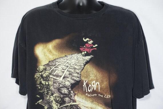 1998 Korn Vintage T Shirt - Follow The Leader 2 Sided Giant Branded Original 90s Concert Band T-Shirt