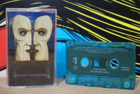 The Division Bell by Pink Floyd Vintage Cassette Tape
