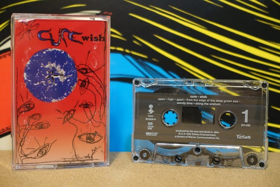 The Cure - Wish Cassette Tape - 1992 Elektra Records - Vintage Analog Music