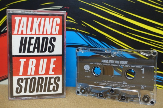 Talking Heads - True Stories Cassette Tape - 1986 Sire Records - Vintage Analog Music