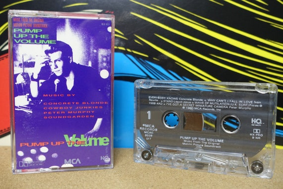Pump Up The Volume Cassette Tape (Original 1990 Motion Picture Soundtrack) by Various Artists Vintage Analog Music