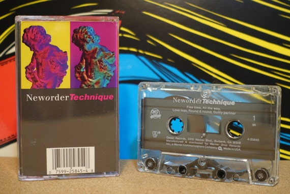Technique by New Order Vintage Cassette Tape