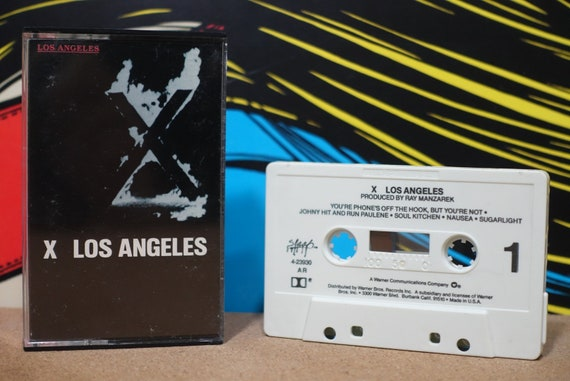 Los Angeles by X Vintage Cassette Tape