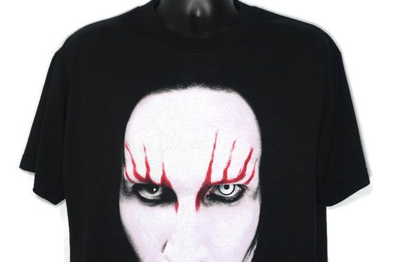 2000 Marilyn Manson Vintage T Shirt - Holy Wood In the Shadow of the Valley of Death Era - 2 Sided Original 90s Concert Band T-Shirt
