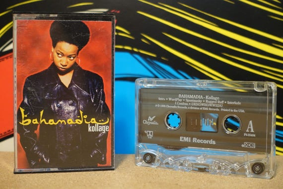 Bahamadia - Kollage Vintage Cassette Tape - 1996 EMI Records Vintage Analog Music