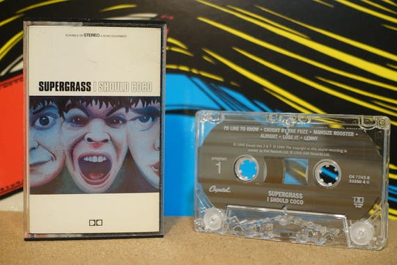 Supergrass - I Should Coco Cassette Tape - 1995 Capitol Records - Vintage Analog Music