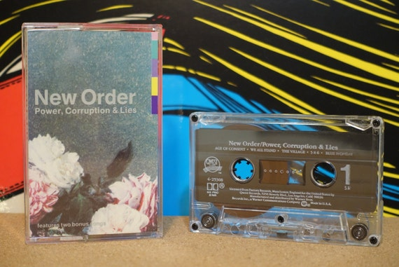 Power, Corruption & Lies by New Order Vintage Cassette Tape