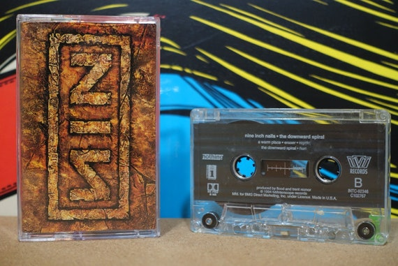 NIN Nine Inch Nails - The Downward Spiral Cassette Tape - 1994 Interscope Records - Vintage Analog Music