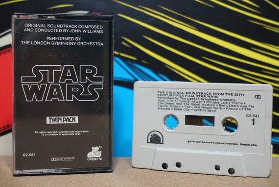 Star Wars (Original Soundtrack Composed & Conducted by John Williams) Performed by The London Symphony Orchestra Vintage Cassette Tape